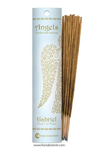 Fiore d 'oriente Emballage d'encens Ange Gabriel en Bleu, en Bambou, Multicolore, Lot de 10