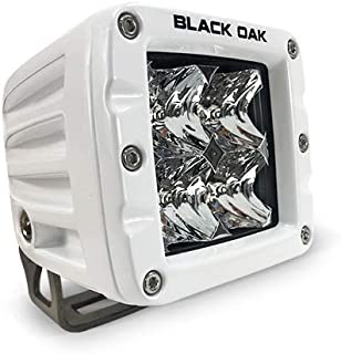 Black Oak LED Pro Series 2.0 Marine 2 Inch POD Light: Spot 40W CREE XM-L2 (1 Pack)   Includes Brackets and Wiring Harness   Waterproof Lighting for Offroad Trucks, Jeep, ATV, UTV, Boats