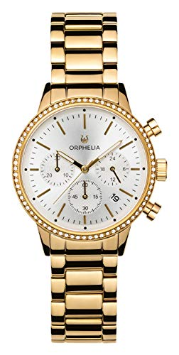 ORPHELIA Damen Chronograph Quarz Uhr mit Edelstahl Armband OR32804
