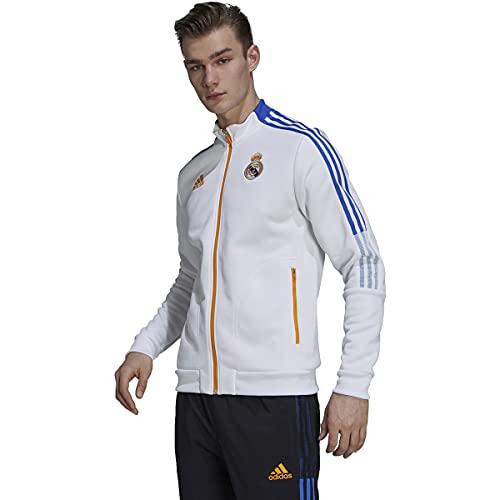 adidas Men's 2021-22 Real Madrid Anthem Jacket (White, Large)