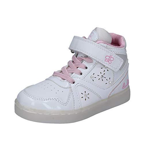 LULU' Sneaker Bambina Pelle Sintetica Bianco 31 EU