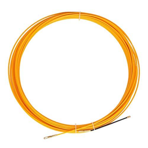 kesoto 30m Einziehspirale φ3.0mm Einziehdraht Einziehband Kabeleinzug mit Führungsfeder
