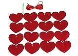Matissa Guirnalda de papel para colgar en la pared, diseño de corazones rojos, ideal para bodas, fiestas, San...