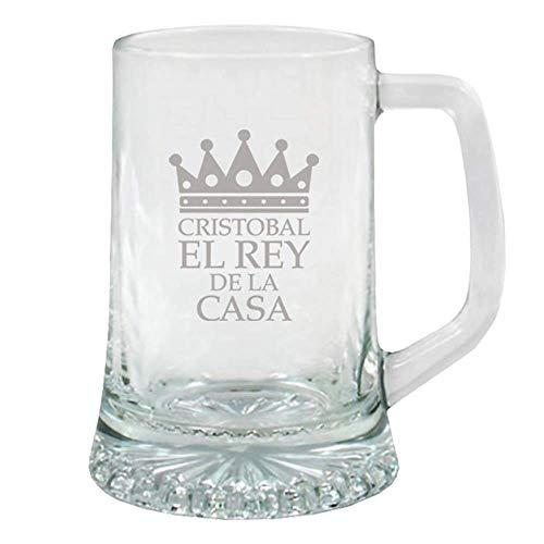 Regalo Original para Hombre: Jarra de Cerveza de Cristal para 'el Rey...