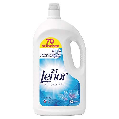 Lenor Waschmittel Flüssig, Flüssigwaschmittel, Lenor Aprilfrisch mit Duft von Frühlingsblumen, 70 Waschladungen (3.85 L)