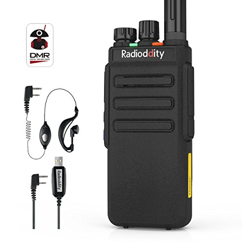 Radioddity GD-77S DMR Dual Band Two Way Radio Digital/Analog Long Range Handheld Walkie Talkie 1024CH, Voice Prompt, Commercial Use, with Programming Cable, Original Earpiece and 2 Antennas