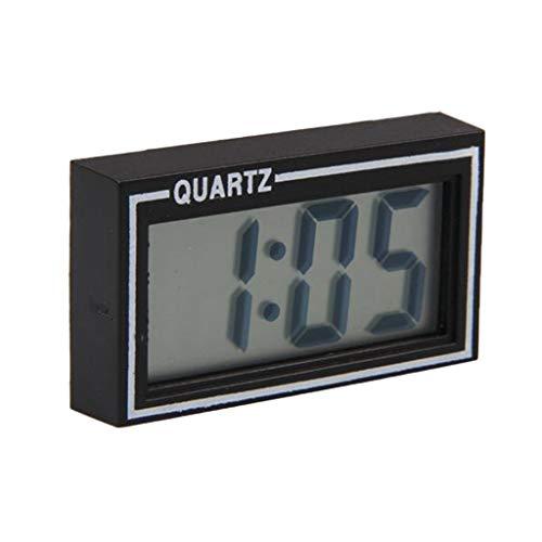 BELTI Digitaluhr, Mini beleuchtete Digitale Autouhr Schwarz Auto Auto Truck Dashboard Datum Zeit Kalender