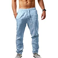Men's Loose Lightweight Linen Drawstring Pants (multiple colors)