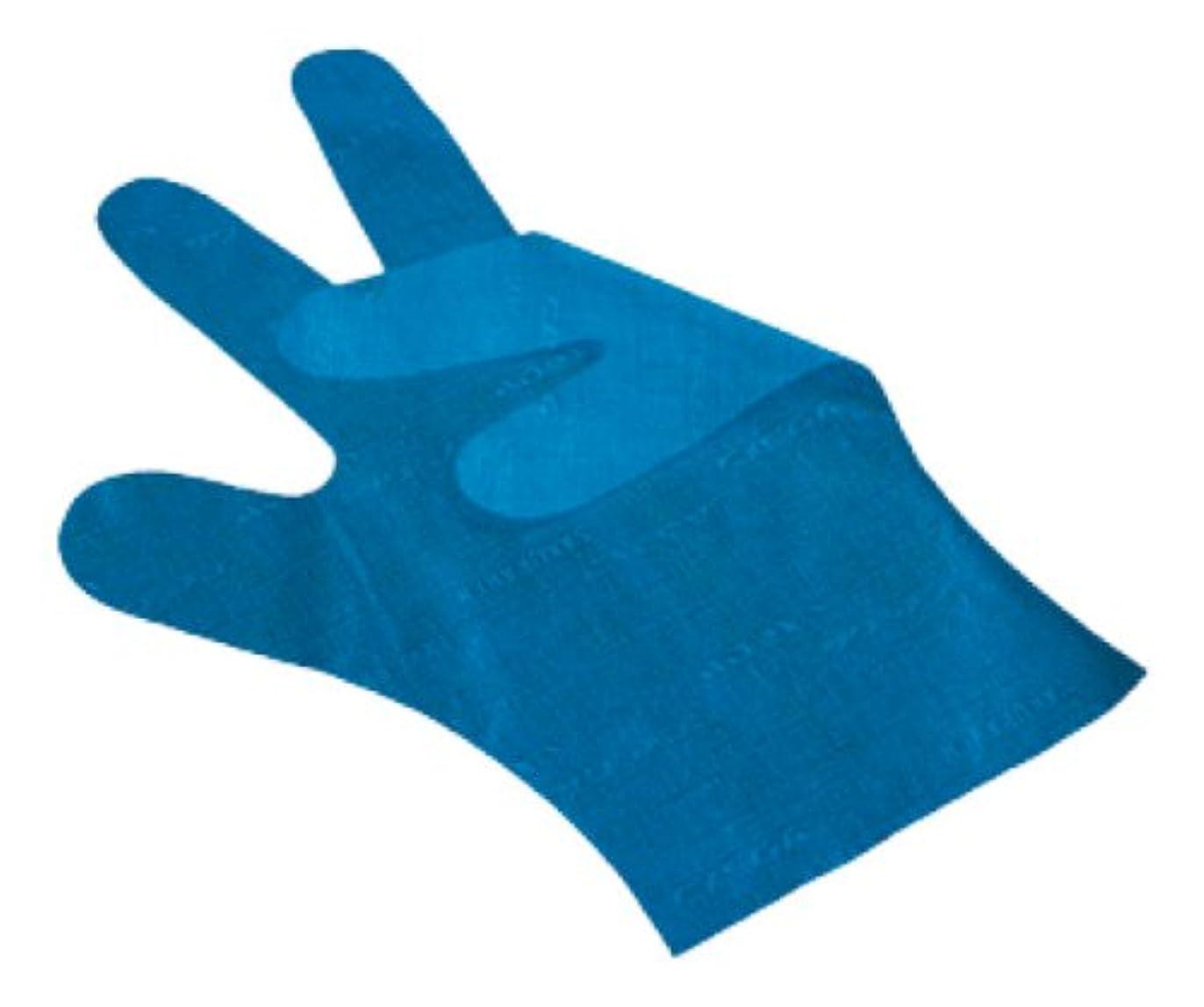 誤ってあごひげ持っているサクラメン手袋 デラックス(100枚入)L ブルー 35μ