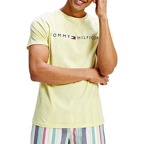 Tommy Hilfiger de los Hombres Camiseta gráfica salón, Amarillo, S