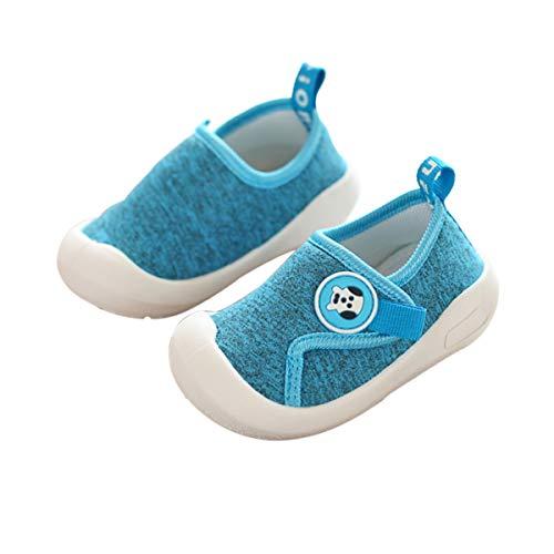 DEBAIJIA Zapatos para Niños 1-4T Bebés Caminata Zapatillas Malla TPR Material Antideslizantes Niñas Pequeños 18/19 EU Azul (Tamaño Etiqueta 15)