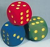 adhome 567902dados de juego gigantes puntos clásicos Set de 3