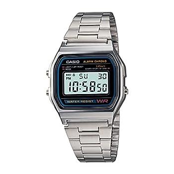 Casio Men s A158WA-1DF Stainless Steel Digital Watch