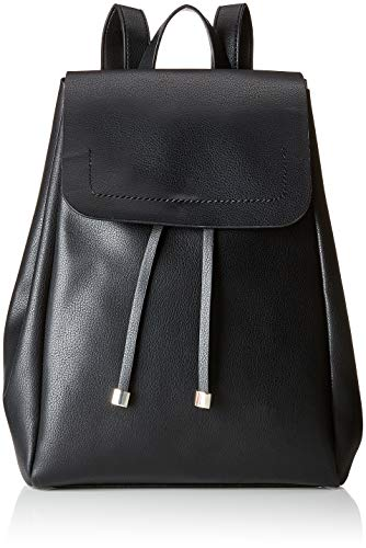 PIECES Damen Pcflora Backpack Rucksackhandtasche, Schwarz (Black), 12x29x24 cm