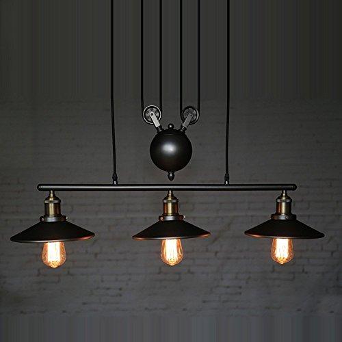 zy de pight homestia Pulley – Pendentif Vintage Loft Plafonnier Lampe Suspension Éclairage artistique Corps