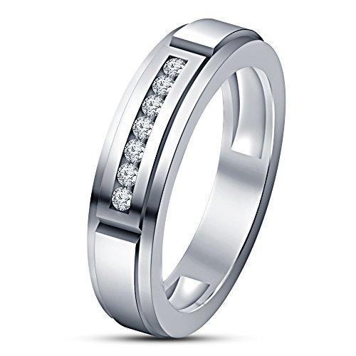 Vorra Fashion Geschenk zum Jahrestag Band Ring für Ihr Dear One Stempel 925Remasuri Platin RD CZ