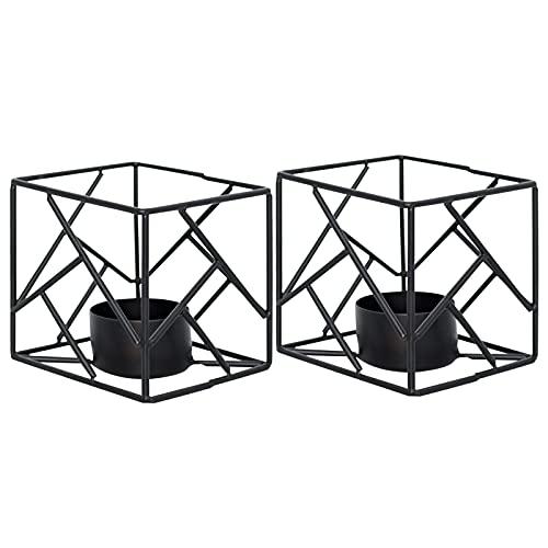 Komake Portavelas geométrico, moderno de hierro, portavelas de metal, de estilo sencillo para el hogar, para salón, boda, fiesta, Navidad, decoración de mesas de café