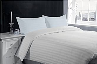 Lasin Bedding 100% Cotton Hotel Collection Envelope Closure Pillow Cases Stripe (Set of 2) - Standard 20