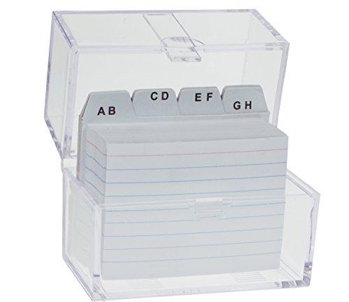 Karteikasten Lernbox DIN A6 /& 100 Karteikarten Register A-Z