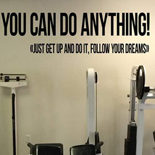 Usted puede hacer cualquier cosa Cita de motivación del gimnasio Calcomanía de...