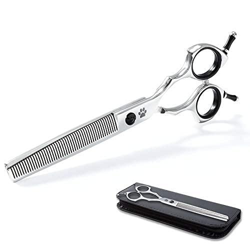 "Premium Dog Thinning Shears for Grooming,50 Teeth Sharp Pet Scissors Dog Hair Clippers,Professional Dog Grooming Shears for Dog Hair Remover, Durable Cat Grooming Scissors Tool,7"" Blender"