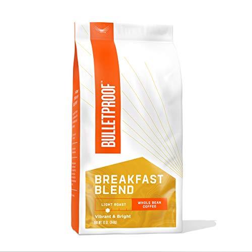 Breakfast Blend Whole Bean Coffee, Light Roast, 12 Oz, Bulletproof Luminate Keto 100% Arabica Coffee, Certified Clean Coffee, Rainforest Alliance, Sourced from Guatemala, Colombia & El Salvador