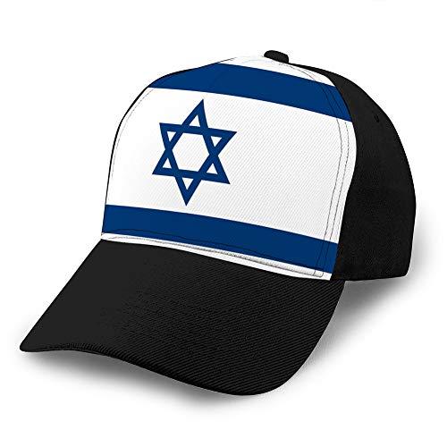 jiilwkie Hat Cap Adjustable Baseball Cap Classic Men Women Unisex Ballcap Israeli Flag Men Women Hat