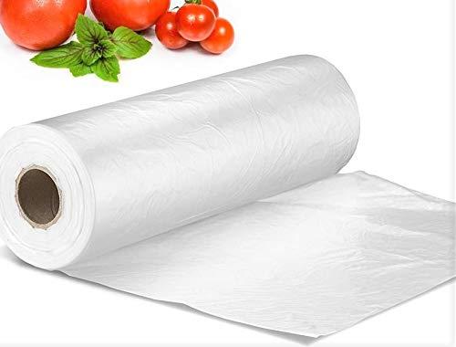 Sabco - Bolsas de plástico en rollo - Bolsas transparentes para congelador de alimentos para frutas y verduras - 225 x 350 x 450 mm.