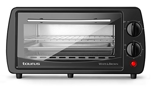 Taurus Horizon 9 - Horno Electrico, 800 W, Acero 18/10, Negro