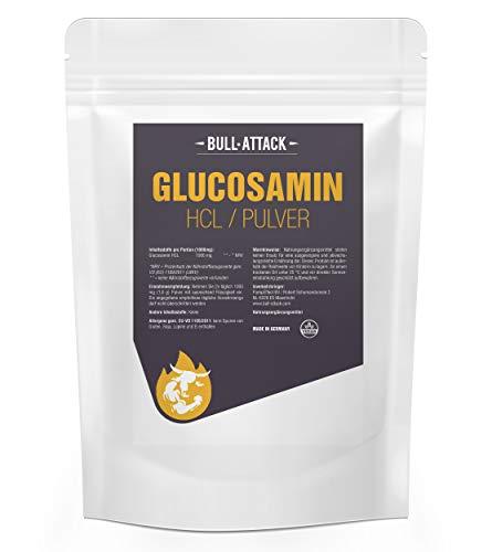 GLUCOSAMIN HCL Pulver | 100{aa4d2ff9b902439463c27f949e046feb25c350474601d74820c2d5ea4f929942} Rein ohne Zusatzstoffe | auch für Tiere (Pferde, Hunde usw) geeignet | Premium Qualität (1000g)
