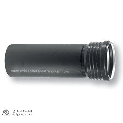 Wavin SiTech+ schallgedämmtes Abfluß Abwasserrohr DN 75 Rohr mit Muffe (1000 mm)