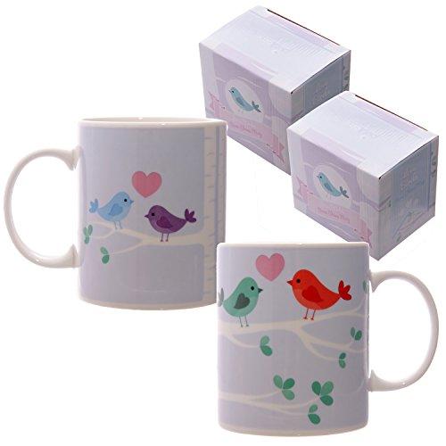 Mug En Porcelaine Oiseaux Amoureux Par Lauren Billingham