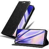Cadorabo Hülle für LG G8S in Nacht SCHWARZ – Handyhülle mit Magnetverschluss, Standfunktion & Kartenfach – Hülle Cover Schutzhülle Etui Tasche Book Klapp Style
