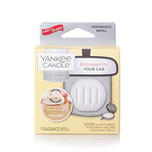 Yankee Candle Charming Scents Car Air Freshener Refill, Vanilla Cupcake