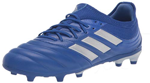 adidas Boy's Copa 20.1 Firm Ground Soccer Shoe, Blue/Silver/Blue, 5.5 Little Kid