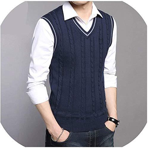 Heren gebreid vest vest voor mannen mouwloos V-hals trui tops vest