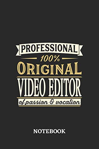 Professional Original Video Editor Notebook of Passion and Vocation: 6x9 inches - 110 graph paper, quad ruled, squared, grid paper pages • Perfect Office Job Utility • Gift, Present Idea