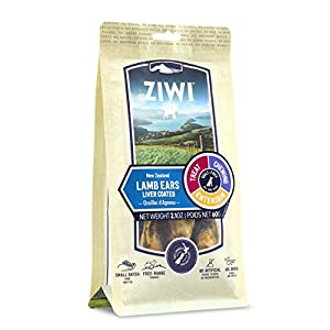 ZIWI Dog Chews and Treats – All Natural, Air-Dried, Single Protein, Grain-Free, High-Value Treat, Snack, Reward (Lamb Ears)