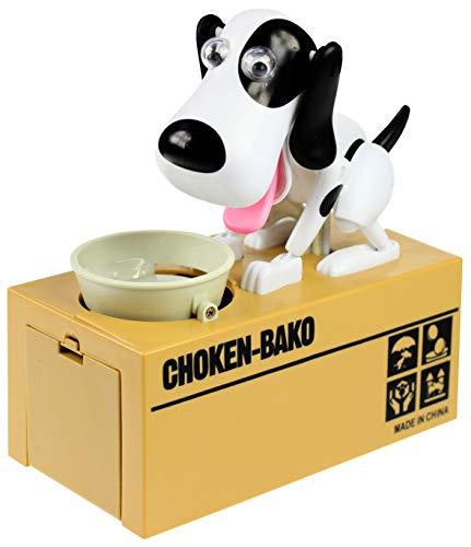 Monsterzeug Spardose Hund frisst Münze, Mechanische Tierfigur nimmt Münzgeld auf, Sparbüchse für Kinder Hungriger Hund, Doggy Bank