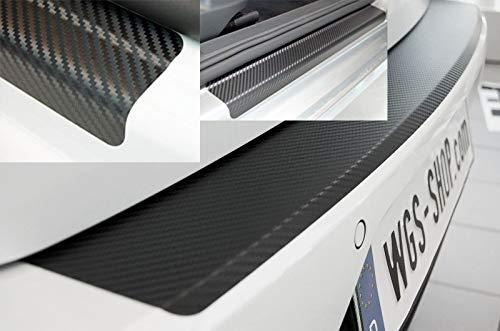 Preisvergleich Produktbild WGS Spar-Set Einstiegsleisten Ladekantenschutz Lackschutzfolie Schutzfolie Carbon Schwarz (2216-804)