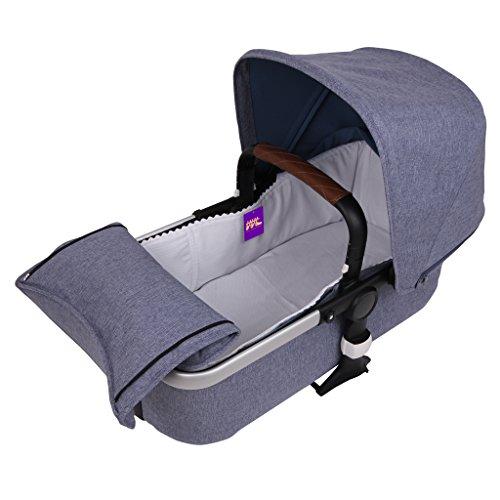 Tititnins® - Funda Capazo Velcro Bugaboo Fox 2 PIQUE BLANCO - Acolchado Transpirable- (100% Algodón)
