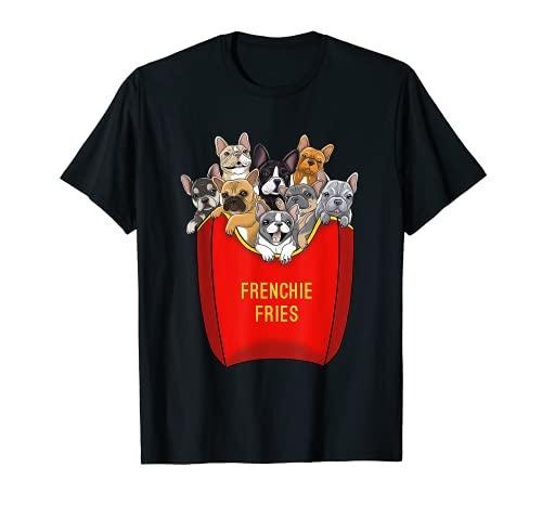 Frenchie Fries Shirt French Bulldog Dog Mom Dog Dad Cute T-Shirt