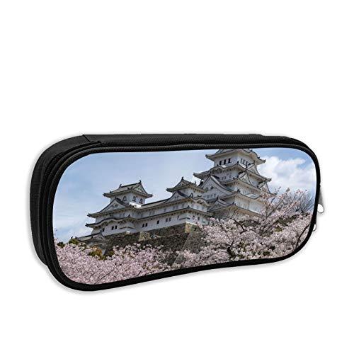 Heritage Japan Castle Himeji White Garza History, Tortugas Estuche para lápices con cremallera, bolsa de maquillaje de gran capacidad, bolsa para pasaporte para universidad, escuela, escuela media