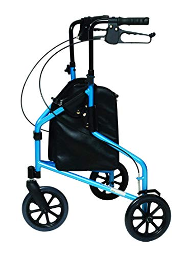 Lumex 3-Wheel Cruiser, Lightweight and Compact Folding Walker, Bondi Blue, 609201B