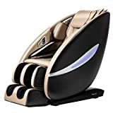 Shiatsu Massage Chair Full Body and Recliner Zero Gravity Electric with Built-in Heat Therapy Airbag Massage System Foot Roller Vibrating SL-Track Stretch HiFi Speaker for Office Home,Beige