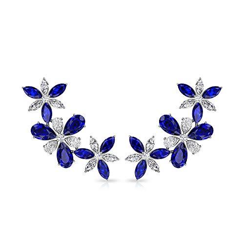 Rosec Jewels 14 quilates oro amarillo pera redonda Blue Blue Sapphire Diamond