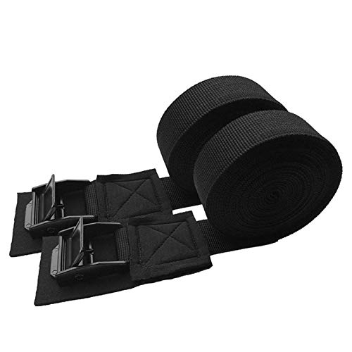 Car Lashing Straps 2 Pcs Tie Down Straps Quick Release Scratch-Free Nylon Outdoor Car Cam Buckle for Surfboard Black