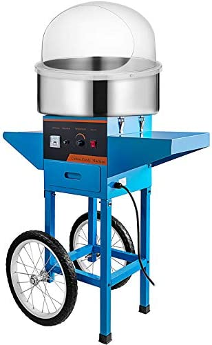 VBENLEM Cotton Candy Machine Commercial with Bubble Cover Shield and Cart Cotton Candy Machine product image