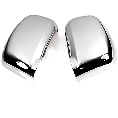 Triple Chrome Mirror Cover Trims For 2005 2006 2007 2008 2009 2010 Nissan Versa Tiida Latio