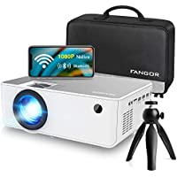 FANGOR F-506 Full HD 1080p 6500-Lumens WiFi/Bluetooth Portable Projector